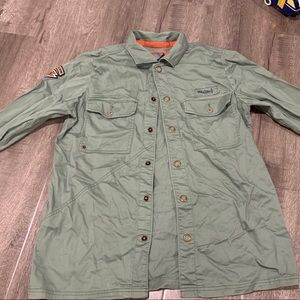Vintage green military style volcom jacket